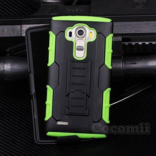 Cocomii Robot Armor LG G4 Stylus/G Stylo/G4 Note Hülle [Strapazierfähig] Gürtelclip Ständer Stoßfest Gehäuse [Militärisch Verteidiger] Case Schutzhülle for LG G4 Stylus (R.Green)