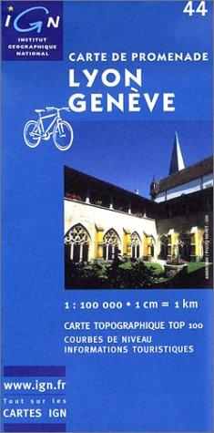 Carte touristique : Lyon - Genève