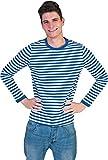 Das Kostümland Clown Shirt Blau Weiß Gr. S