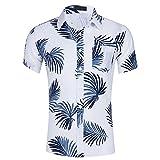 Kurzarm-Strandhemd Herren Hawaiianischer Stil Printing Shirts Mode Casual Kurzarmhemd Kurz Ärmel Revers Tops Knopf Hemd Bluse Oberteile FantaisieZ