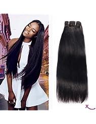 """Extiff - Tissage Brésilien Rémy hair, Grade 8A – 24"""" (60cm) lisse - Marque Française"""