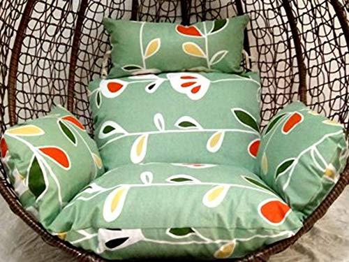 ALIPC Hängende Eierkorb Stuhlkissen,waschbare Nest Hängen Dick Sitzauflage Reißverschluss Abnehmbare Swing Matte Sitzpolster(kein Stuhl)-37 66x45cm(26x18inch)