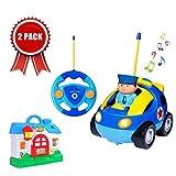 SGILE Ferngesteuertes Auto & Musik Haus, RC Spielzeugauto und Musikalisches Hausspielzeug mit LED Lichtern und Musik, Ideales Spielzeugset für Kleinkinder und Kinder Kindergeschenk