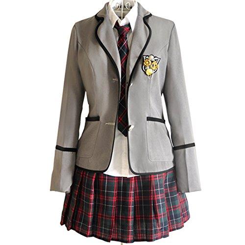 Was 2 Und Was 1 Was Kostüme 3 (URSFUR Mädchen Japan Kostüm Langärmelige Anzug Cosplay Uniform Anime Uniform - Stil)