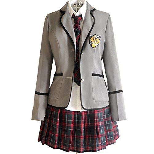 URSFUR Mädchen Japan Kostüm Langärmelige Anzug Cosplay Uniform Anime Uniform - Stil 1-S