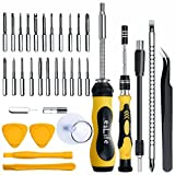 esLife Screwdriver Set [36 in 1] Screwdriver Set Magnetic Tools, 22 Long Precision Bits Extension Kits for PC / PS4 / Pad/Electronics / Furniture and All Categories Repair