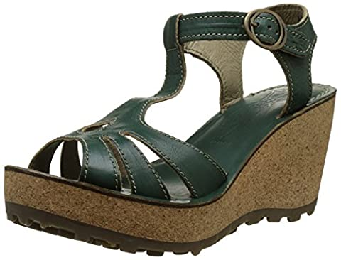 Fly London Damen Gold Plateau Sandalen, Grün (Nilegreen 044), 39 EU