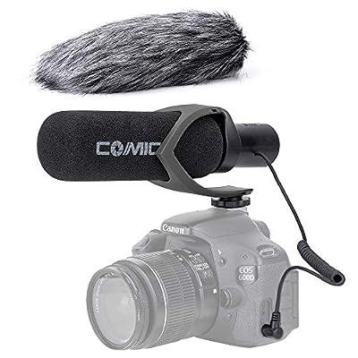 Comica CVM-V30PRO Shotgun Camera Microphone Super-Cardioid Condenser Interview Video Microphone for Sony Canon EOS Nikon Panasonic Fuji Olympus DSLR Camera Camcorder with Windmuff