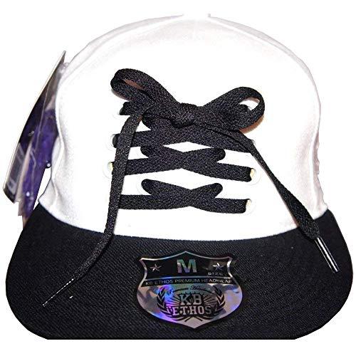 KB Ethos Lacets Bicolore Plat Casquettes, Bling ajusté Hip Hop Casquette De Baseball