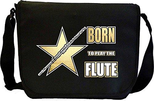 Flute-Born-To-Play-Sheet-Music-Document-Bag-Musik-Notentasche-MusicaliTee