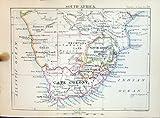 État 1886 libre orange de colonie de cap de l'Afrique du Sud de carte de Bartholomew Cape Town