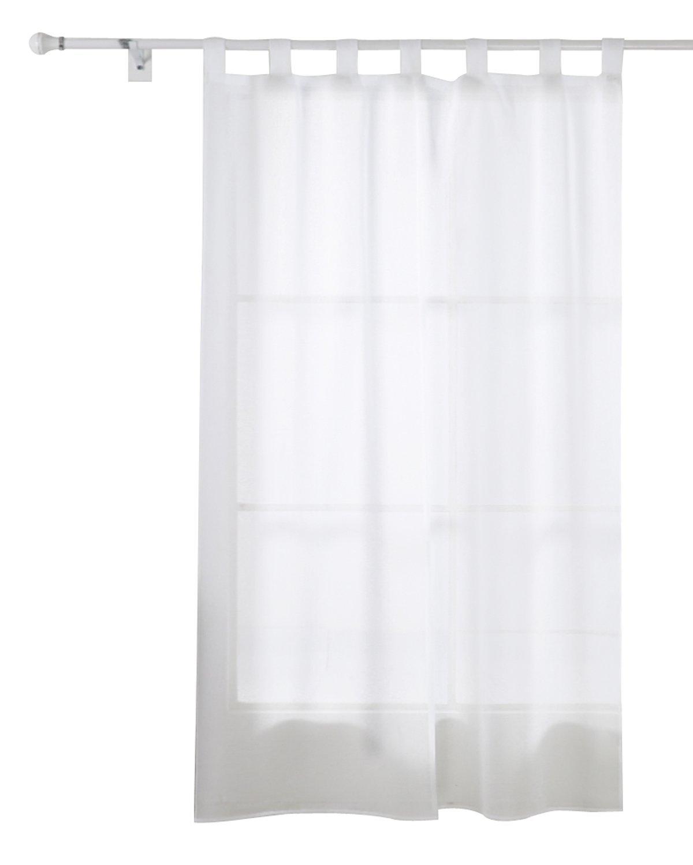 Amazonde Deconovo Vorhang Transparent Gardinen Wohnzimmer Voile Schlaufenschal 245x140 Cm
