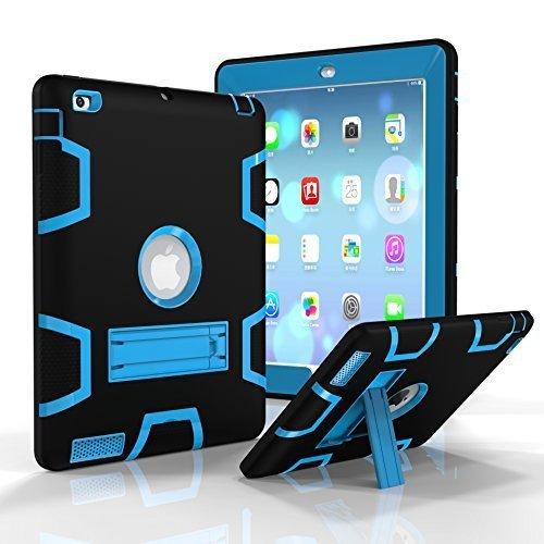 iPad 2/3/4Fall, beimu Ständer Funktion [Tire Serie] Rugged Shock absorbierenden Drei Schicht Hard Gummi Schutz Case Cover mit Stylus für Apple iPad 2./3./4. Generation, 9.7 inch, Himmelblau Gummi Hard Case Cover
