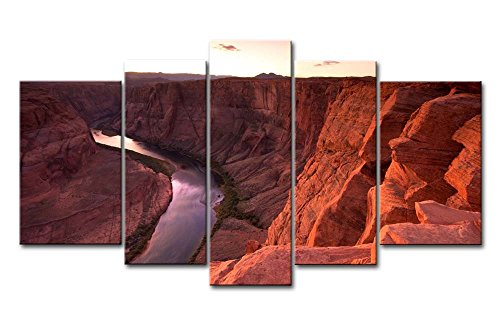 5-pieces-mur-art-peinture-colorado-river-a-travers-le-grand-canyon-sunrise-photos-sur-toile-paysage-