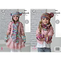 King Cole Girls Scarf, Snood, Hat & Mittens Bamboozle Knitting Pattern 4391 Chunky