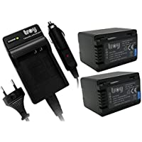 Batería CARGADOR para Panasonic vbk360 hdc-sd40 sd66 sd80 sd99 vbk-360 vbk360ek