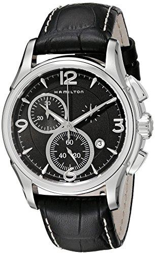 Hamilton Herren Chronograph Quarz Uhr mit Leder Armband H32612735
