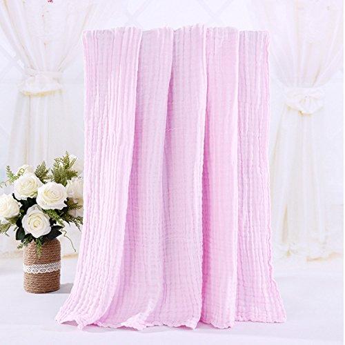 Baby Decke Baby Hug Decke Gaze Decken Multi - Zweck 6 - Schicht Gaze Baumwolle Badetuch,Pink-41.3*41.3in