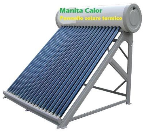Incluye el barril de carga de acero inoxidable de 5litros para 1-10personas.Los sistemas solares Manita Calor son paneles termo solares para la producción de agua caliente de uso sanitario.Usan la tecnología de los tubos al vacío y el principio d...