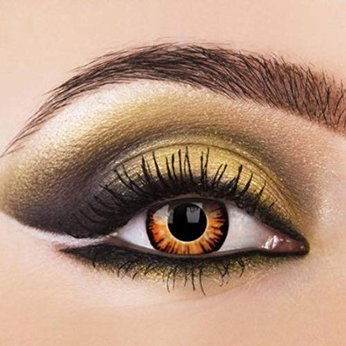 TWILIGHT Kontaktlinsen Werfolfkontaktlinsen + GRATIS Behälter auch für Halloween und Karneval Jahreslinsen Farbige Kontaktlinsen ohne Dioptrie von Eye-Effect