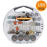 Accesorios de herramientas rotativas, Meterk 180pcs diámetro de mangos...