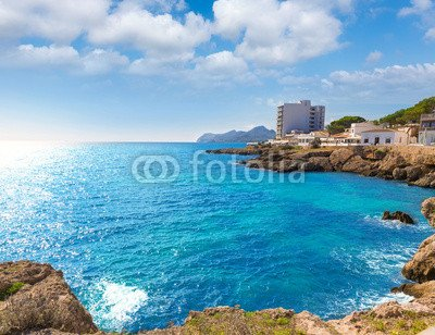 "Leinwand-Bild 50 x 40 cm: \""Majorca Cala Ratjada Rajada in Capdepera Mallorca\"", Bild auf Leinwand"