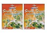2x Packungen von 30151Sealapack Eiswürfelbeutel einfach Stück Steam Gemüse Mikrowelle Kochen Staubbeutel