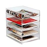 Aktenschränke Bürobedarf A4 5-lagiges Datenrack Acryl Transparentes Desktop-Dokumentenablage-Rack Mehrlagig anQna