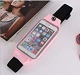 Evtech (tm) [Erweiterbar Hüfttasche Gürtel] Men and Women Sport, Laufen und Fitness Bewegung Sichtbare Touchscreen-Handy-Kopfhörer Tasche für Hold-5-Zoll-Bildschirm (Pink)