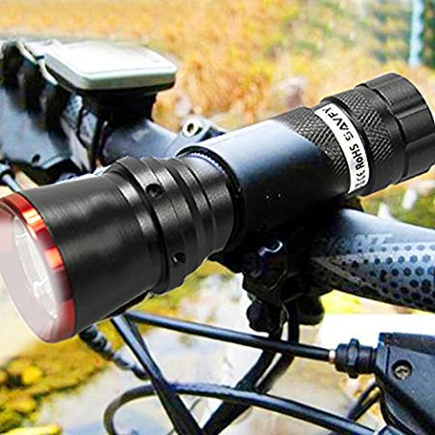 SAVFY 806A CREE LED Mountain Bike Bicycle Head Front Lamp Flashlight Torch + 9 LED Rear Tail Light