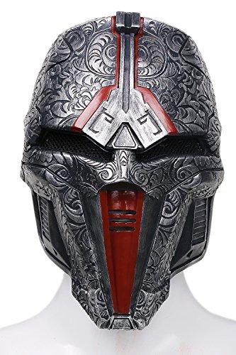 Halloween Maske Cosplay Herren Erwachsene Einstellbare Dunkelgraue Harz Gesicht Helm Kostüm Prop Neue Version