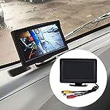 Sguan-wu 4,3 Zoll TFT LCD Digitalanzeige Rückfahrkamera Rückfahrkamera-Monitor mit Standfuß
