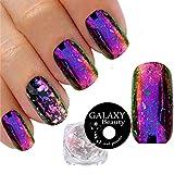 Galaxy Beauty - Boîte de poudre de paillettes transparentes pour faux ongles - Effet verre brisé - Brillant - Différentescouleurs