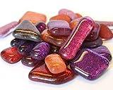 Glaskristall-Dekosteine, verschiedene Formen, Regenbogenfarben