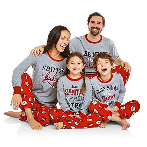 Weihnachtspyjama Familie UFODB Schlafanzug Pyjama Hausanzug Sleepwear Weihnachten Nachtwäsche Damen Herren Kinder Outfits Xmas ()