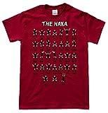 JeKAt New Zealand Rugby Haka Dunkelrot T-Shirt, Größe XL