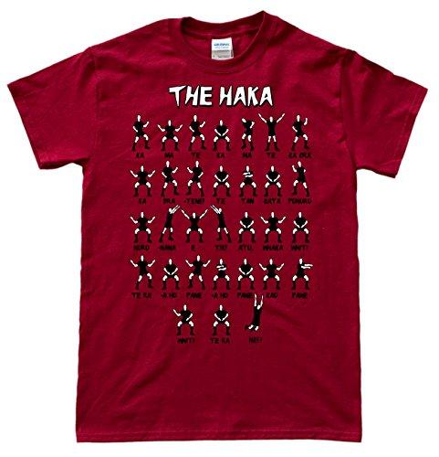 New Zealand Rugby Haka Rouge Foncé T-Shirt, Taille S par  JeKat