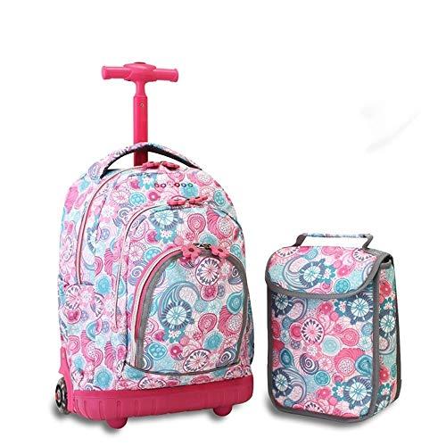TYUIO Big Storage wasserdichte Rollen Rollrucksack Reisegepäck für Jungen Studenten Schulbücher Laptoptasche (Color : Style A) -