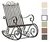 CLP Eisen-Schaukelstuhl SMILLA im Landhausstil I Schwingstuhl mit hoher Rückenlehne I In Verschiedenen Farben erhältlich Bronze