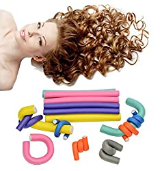 Style A : HapiLeap 42-Pack Flexible Soft Foam Curling Rods Hair Curler Roller Set (Style A)