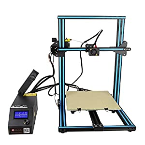 Wisamic Creality CR-10S 3D Printer Prusa I3 with 1m Extension Cable, 10 PCS Nozzels (0.2mm, 0.4mm, 0.6mm, 0.8mm, 1.0mm), Dual Z Axis Leading Screws and Filament Detector, Large Area 300x300x400mm