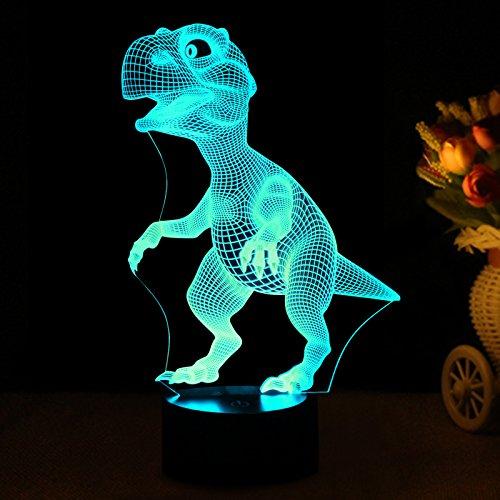 Ebay Led Lights >> 3D Night Lights Dinosaur for Children Kids Toys for Boys 7 LED Toddler Bedtime 7910020016253 | eBay