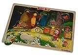 Eichhorn 109304083 - Mascha und der Bär Steckpuzzle 11-teilig, 30 x 20 cm, Puzzle mit 10 Steckteilen