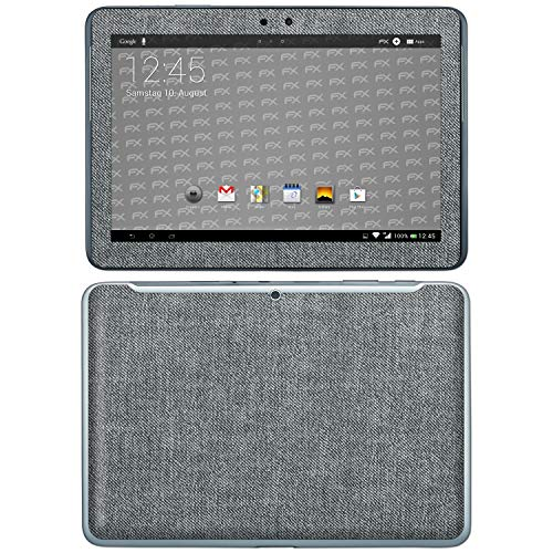 bel mit Samsung Galaxy Tab 2 10.1, Designfolie Sticker (FX-Denim-Grey), Jeans-Stoff Optik ()