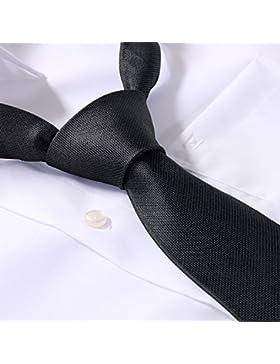 Übergrößen Krawatte schwarz/grau