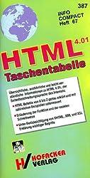 HTML 4.01 Taschentabelle