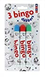 BINGO DABBERS 3 PACK 3 COLOURS MARKERS TICKETS BINGO GAME FUN RED BLUE GREEN NEW