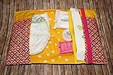 Windeltasche für unterwegs Wickeltasche Geburtsgeschenk für Mama und Kind Sterne Pünktchen