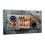 Piano cottura in vetroceramica Protector copertura pannello 80x 52cm | vetro temperato tagliere grande | Kitchen Wall splash-back | Schermo per stufa elettrica in ceramica a induzione | Japan sushi