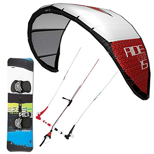 Double Wingtip (F2 Kite Set Ride V3.0~15 QM + BAR + Bag + LEICHTWIND Session Kiteboard 161 cm)